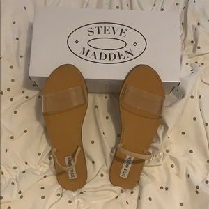 Barely worn Steve Madden clear sandals!
